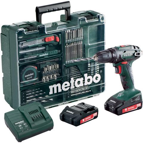 Metabo BS 18 SET Borrskruvdragare med 2,0Ah batterier och laddare