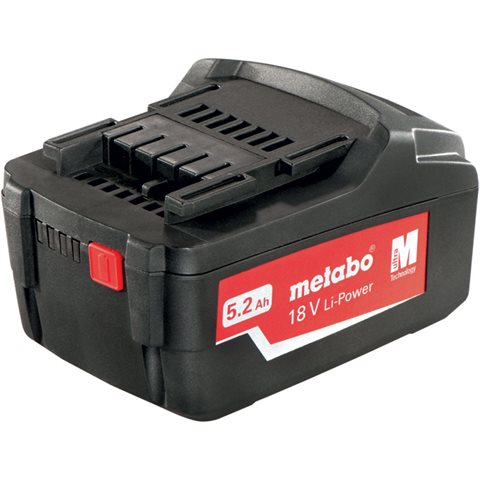 Metabo 18V Li-Power Li-Ion batteri 5,2Ah