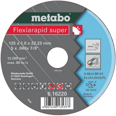 Metabo 616220000 Kapskiva 125x22,2 mm