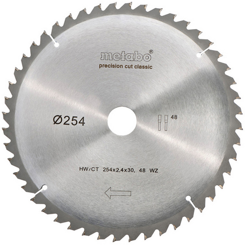 Metabo 628061000 Sågklinga 254x30 mm