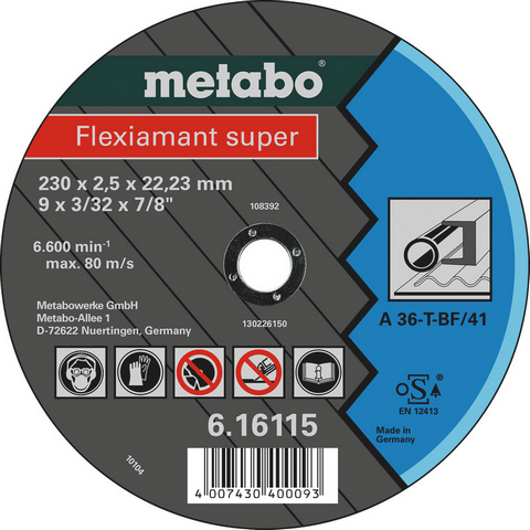 Metabo 616107000 Kapskiva 125x22,23 mm