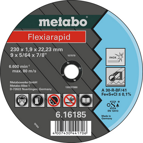 Metabo 616184000 Kapskiva 180x22,23 mm