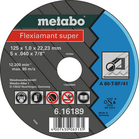 Metabo 616188000 Kapskiva 115x22,23 mm