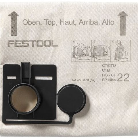 Festool FIS-CT 44 SP VLIES Filtersäck 5-pack