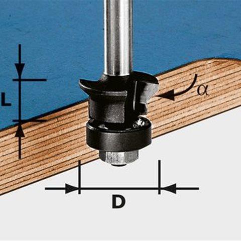 Festool HW S8 D24/0° +45° Fas-/kantfräs 8mm spindel