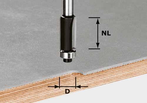 Festool HW S8 D127/NL25 Kantfräs 8mm spindel