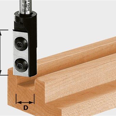 Festool HW S8 D12/30 WP Z1 Notfräs med vändskär, 8mm