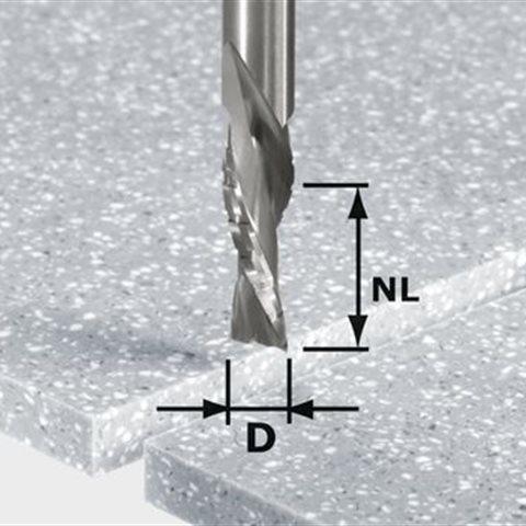 Festool HW Spi D12/42 LD ss S12 Spiralnotfräs 12mm spindel