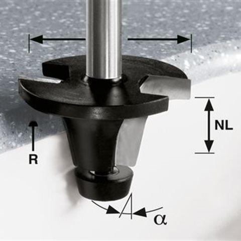 Festool HW R6.35/25/6° ss S12 Avrundningsfräs 12mm spindel