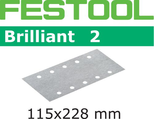 Festool STF BR2 Slippapper 115x228mm 100-pack P220