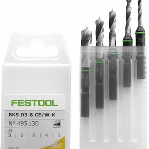 Festool BKS D 3-8 CE/W-K Borrsats