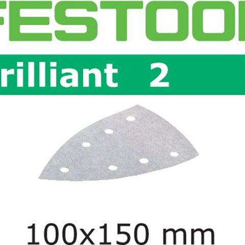 Festool STF BR2 DELTA Slippapper 7-hålat, P60, 10-pack