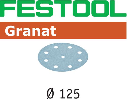 Festool STF GR Slippapper 125mm 8-hålat 100-pack P500