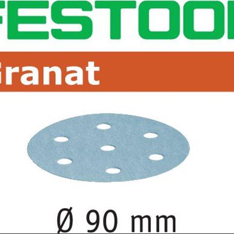 Festool STF P280 GR Slippapper 90mm, 6-hålat, 100-pack