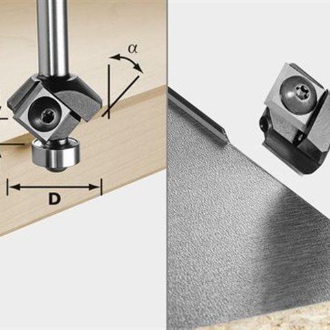 Festool S8 HW 45° D27 KL Vändskärs-fasfräs 12x12mm
