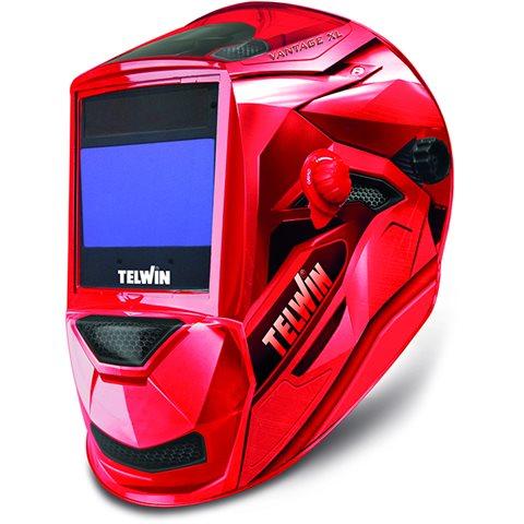 Telwin Vantage XL MMA-Mig/Mag-Tig Sveisehjelm rød