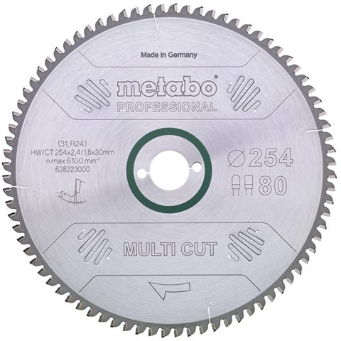 Metabo 628083000 Sågklinga 216x30 mm