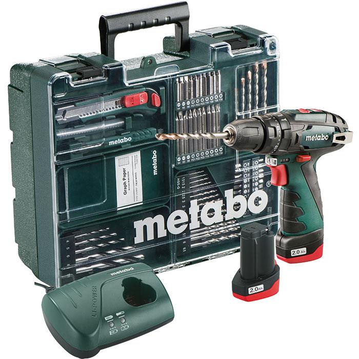 Metabo Powermaxx SB Basic Slagborrmaskin med tillbehörskit batterier och laddare