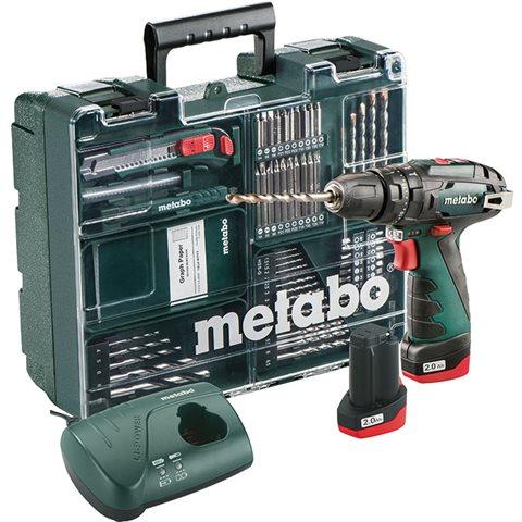 Metabo Powermaxx SB Basic Slagborrmaskin med tillbehörskit, batterier och laddare
