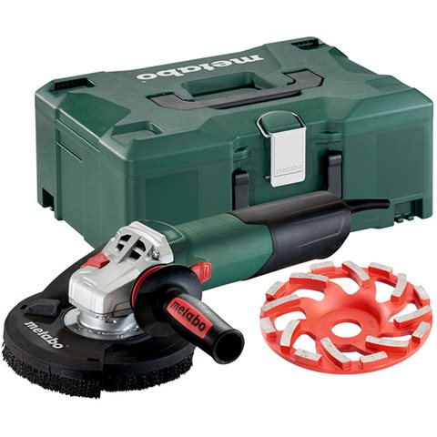 Metabo WE 15-125 HD Set GED Vinkelslip med diamantslipskål betong professional