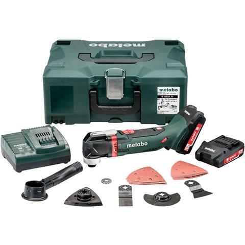 Metabo MT 18 LTX Compact Multiverktyg med Metaloc, 2,0Ah batterier och laddare