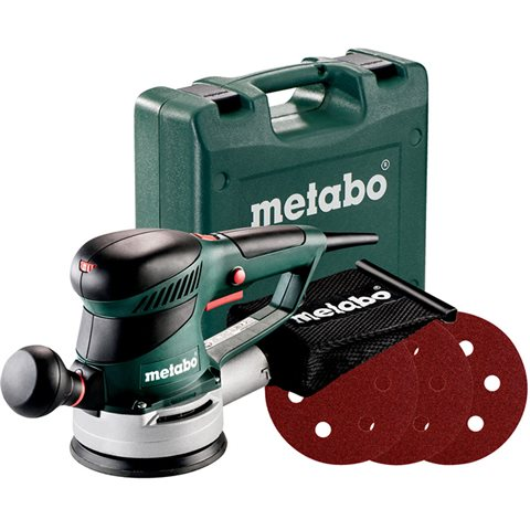 Metabo SXE 425 TURBOTEC SET Excenterslip med 12 slipark