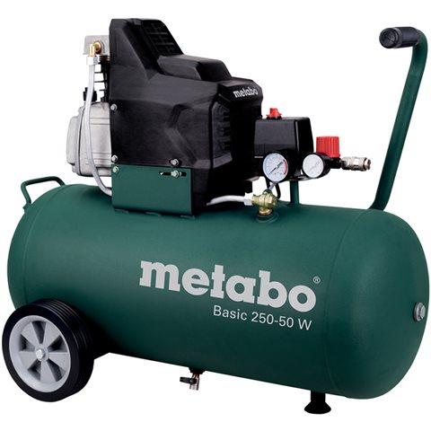 Metabo Basic 250-50 W Kompressor med påfyllnadskapacitet 110 l/min, 50 liter