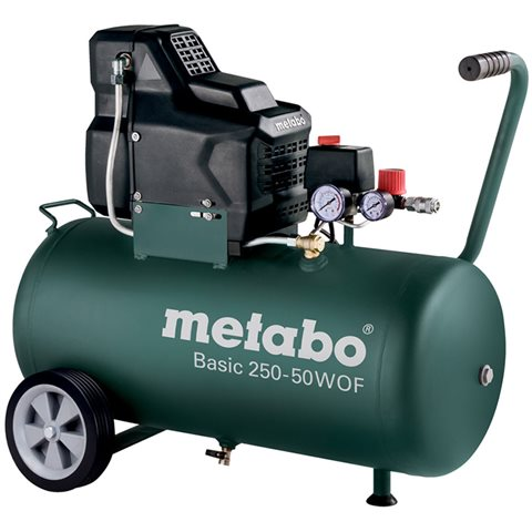 Metabo Basic 250-50 W OF Kompressor med påfyllnadskapacitet 120 l/min, 50 liter