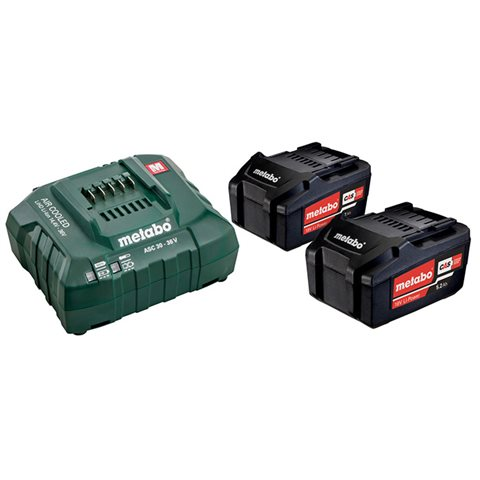 Metabo Bas-set Laddpaket 2 st 5,2Ah batterier och laddare