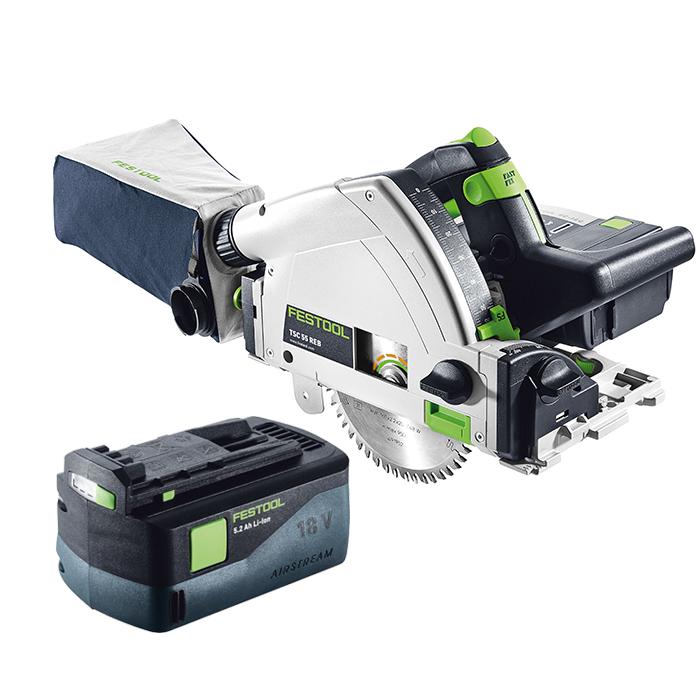 Festool TSC 55 Li 52Ah REB-Plus/XL-SCA Sänksåg med batterier och 2st SCA 8 laddare