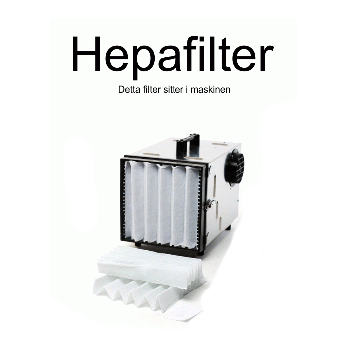 Dustcontrol 42692 HEPA-filter cellulosa glasfiber
