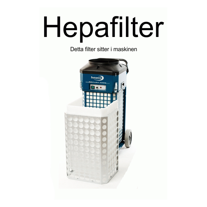 Dustcontrol 42896 HEPA-filter cellulosa glasfiber