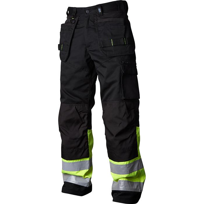 Vidar Workwear V500451-serien Hantverksbyxa gul/svart