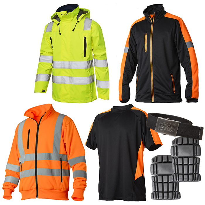 Vidar Workwear Orange Sommarpaket  Strl XL