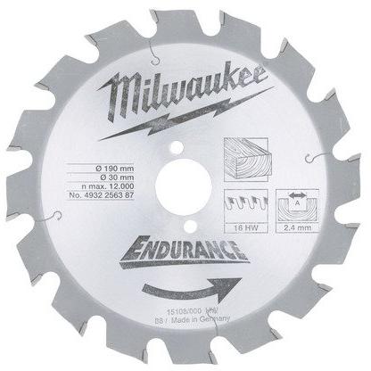Milwaukee 4932256387 Sågklinga 190x24x30mm 16T