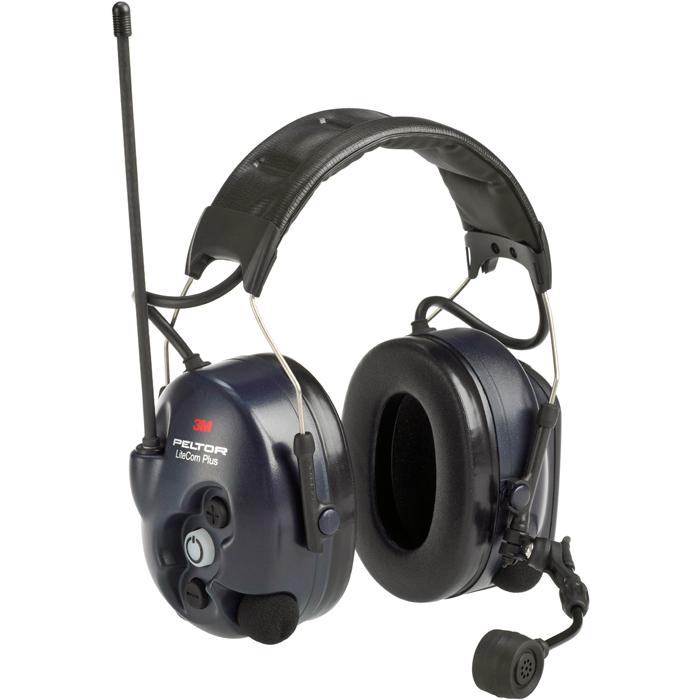 3M Peltor LiteCom Plus Hörselskydd med hjässbygel