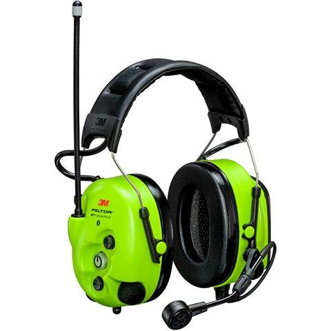 Icke gamla 3M Peltor WS LiteCom III Hörselskydd med hjässbygel, Hi-Viz EV-66