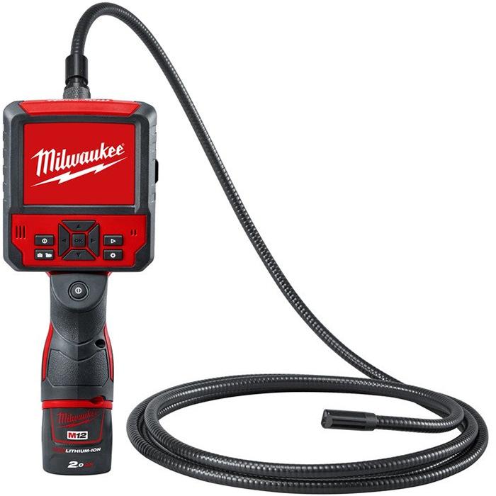 Milwaukee M12 ICAV3-201C Inspektionskamera med 20Ah batteri och laddare