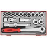 Teng Tools TT1218 Pipenøkkelsett