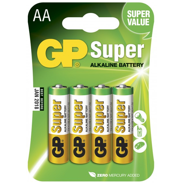 GP Batteries Super Alkaline 24A / LR03 Alkaliska batterier AAA, POWERCASE, 24-pack