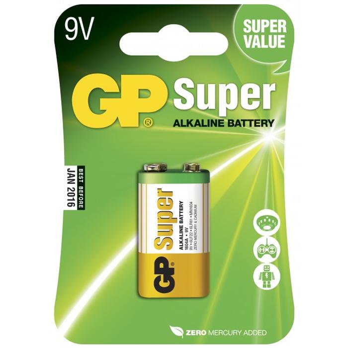 GP Batteries Super Alkaline 1604A-U1/6LF22 Alkaliskt batteri 9 V