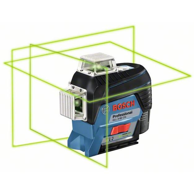 Bosch GLL 3-80 CG Korslaser med 20Ah batteri och laddare
