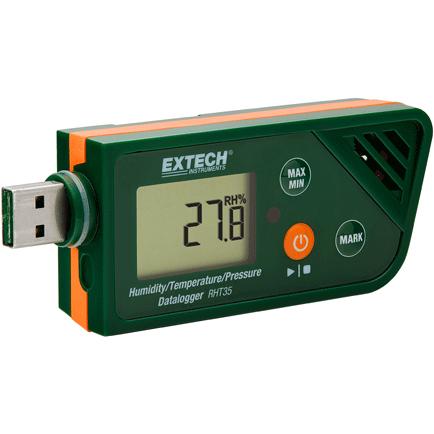 Extech RHT35 Tryck- temperatur- och RF-logger