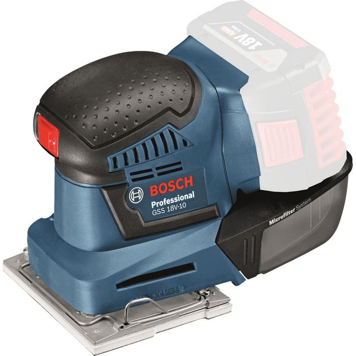 Bosch GSS 18V-10 Planslip L-Boxx utan batterier och laddare