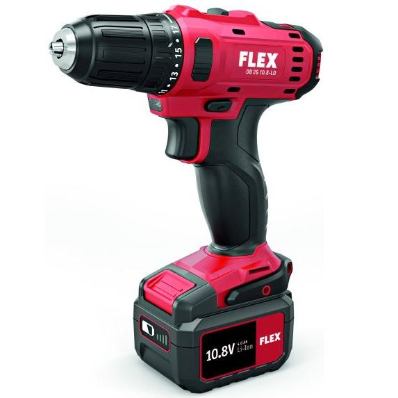 Flex DD 2G 108-LD Borrskruvdragare med 40Ah batterier och laddare