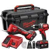 Milwaukee M18 SET2T-502W Verktøypakke