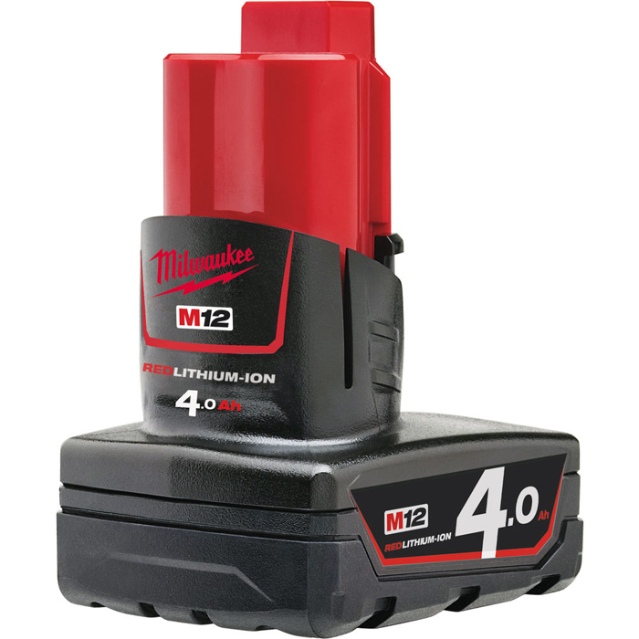 Milwaukee M12 B4 12V Litiumioniakku 4,0Ah