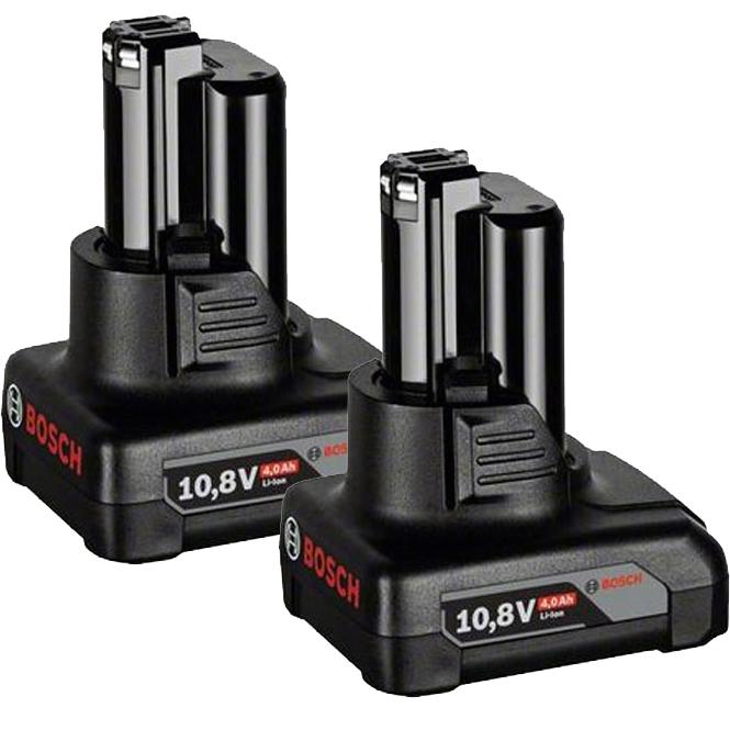 Bosch Batteri & snabbladdare startpaket 12V med 2st GBA 4Ah & GAL1230 CV