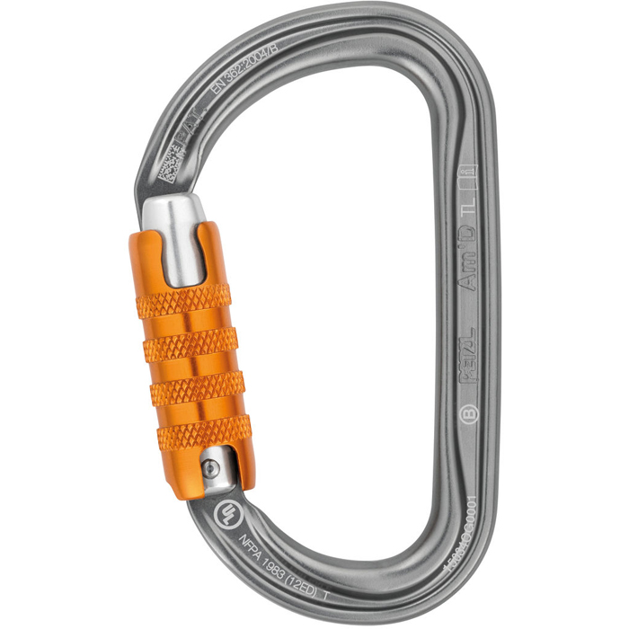 Petzl Am´D Triact autolock Karbin Blank/Orange