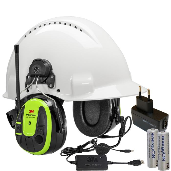 3M Peltor WS Alert XPI Hörselskydd Bluetooth med hjälmfäste laddpaket